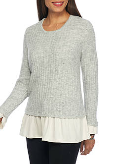 Kensie Mix Combo Hangdown Sweater