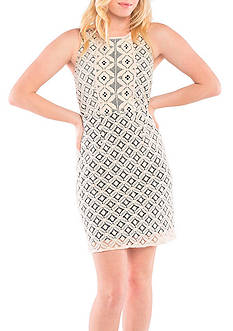 Kensie Graphic Geo Lace Dress