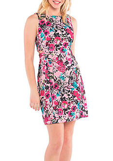Kensie Wild Garden Dress with Side Cutouts
