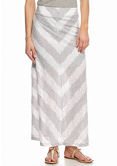 Kensie Lace Stripe Maxi Skirt