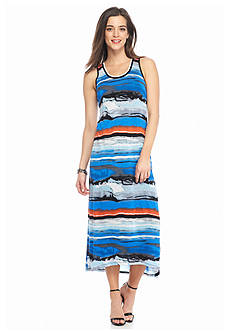 Kensie Stripe Knit Maxi Dress