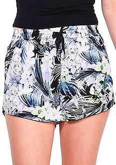Kensie Tropical Blues Printed Soft Shorts