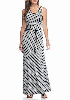 Kensie Striped Maxi Dress