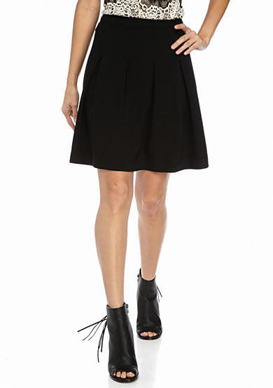 Kensie Textured A-Line Skirt