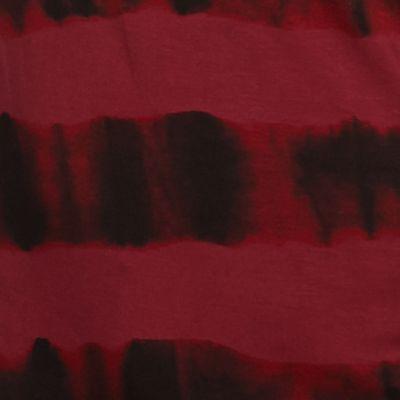 Contemporary: Tops: Wine Multi Kensie Watermark Stripe Angled Hem Top