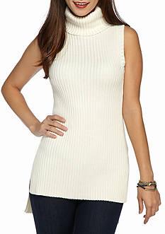 Kensie Sleeveless Turtleneck Sweater