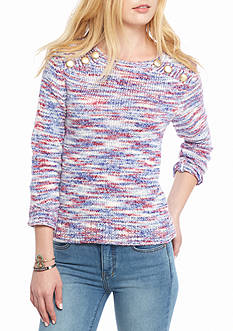 Kensie Space Dye Yarn Sweater