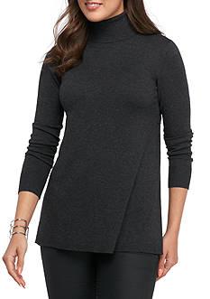 Kensie Pleated Turtleneck Sweater