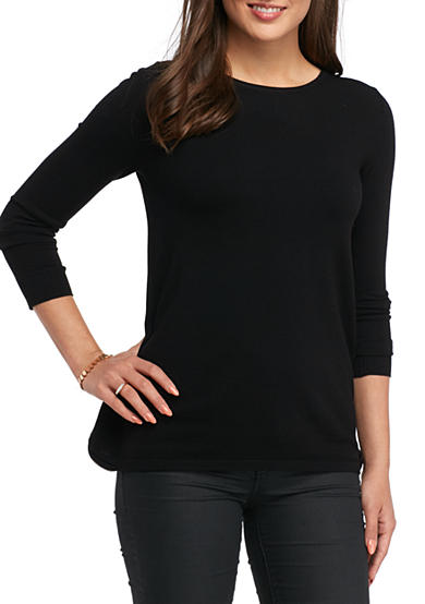 Kensie Back Zipper Sweater