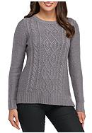 Kensie Cable Front Sweater