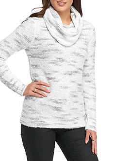 Kensie Space Dye Cowl Neck Sweater