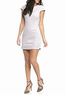 Kensie Stretch Faux Suede Dress