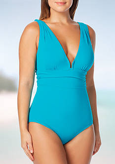 Contours by Coco Reef Emerald Cut One Piece Swimsuit