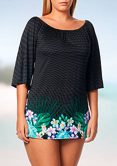 Coco Reef Tropical Escape Paradise Tunic Swim Cover Up