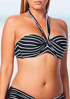 Coco Reef Striped Five-Way Bra Swim Top
