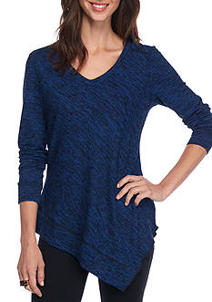 New Directions® Asymmetrical V-Neck Pullover Top