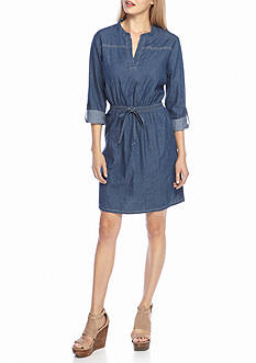 New Directions Self Tie Jean Dress