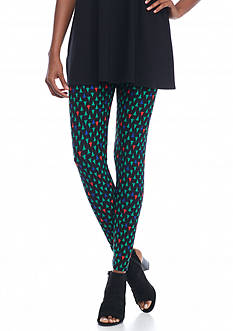 New Directions Holiday Trees Pull-On Legging