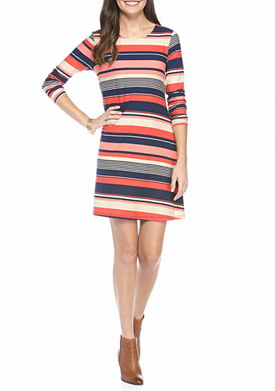 New Directions® Multi Stripe Dress