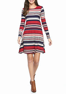 New Directions Multi Stripe Dress