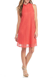 New Directions Allover Lace Swing Dress