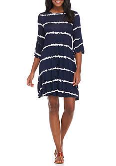 New Directions Tie Dye Bell Sleeve Dress