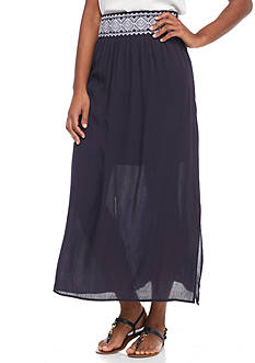 New Directions® Embroidered Skirt