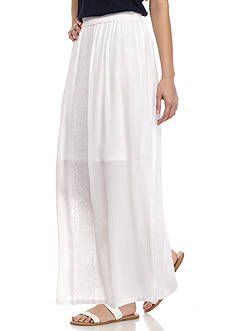 New Directions Petite Embroidered Front Skirt