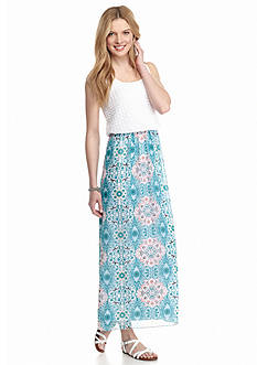 New Directions® Mosaic Lace Top Maxi Dress