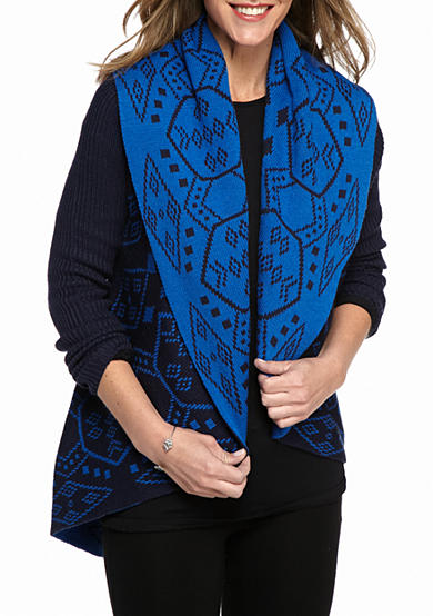 New Directions® Tribal Jacquard Cardigan