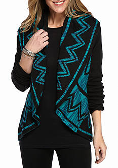 New Directions Tribal Open Front Cardigan