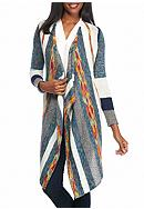 New Directions® Multi Stripe Cardigan
