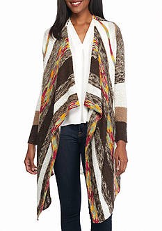 New Directions Multi Stripe Cardigan