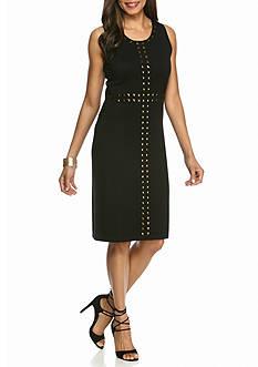 New Directions Brass Stud Sleeveless Dress