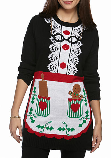 New Directions® Petite Size Mrs. Claus Tunic Sweater