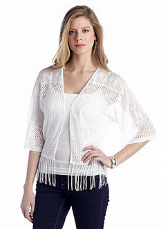 New Directions® Crochet Shrug With Fringe