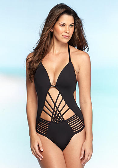 Kenneth Cole Shirr Thing Strappy One Piece