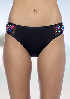 Kenneth Cole Reaction Garden Groove Embroidered Hipster Swim Bottom
