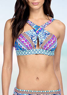 Kenneth Cole Reaction Bohemian Spirit High Neck Swim Top