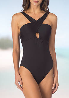 Kenneth Cole Reaction Sea Gypsy Off The Shoulder One Piece Swimsuit
