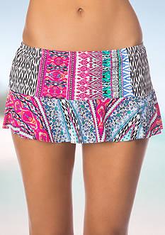 Kenneth Cole Reaction Riviera Stripe Skirt Swim Bottom