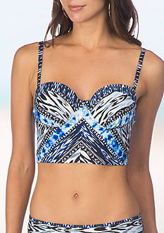 Kenneth Cole Reaction Indigo Go-Girl Underwire Bustier Swim Top