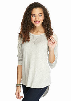 Jolt Lace Shoulder Henley