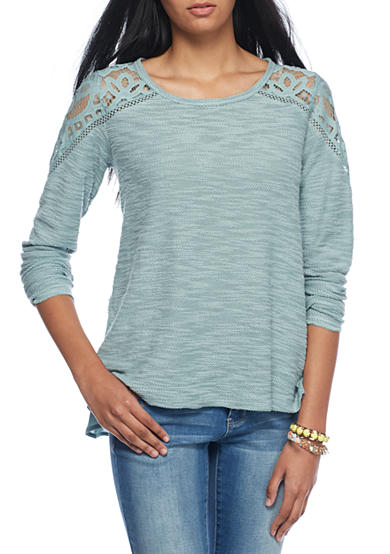 Jolt Textured Knit to Woven Top