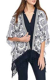 Jolt Short Crochet Kimono