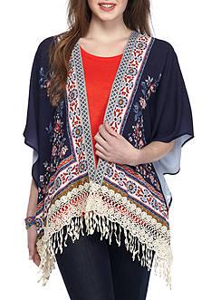 Jolt Short Crochet Kimono Top