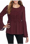 Jolt Crochet Long Sleeve Top