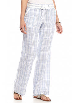 Jolt Wide Leg Window Pane Soft Pants