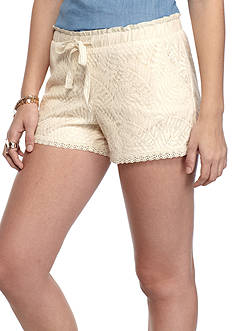 Jolt Lace Leaf Print Shorts