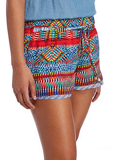 BeBop Happy Stripe Print Soft Shorts